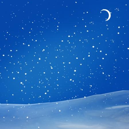 wintery snowy: winter night