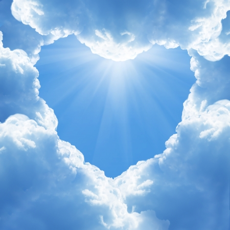 cloud heart photo