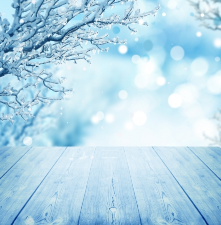 blue christmas background: winter background