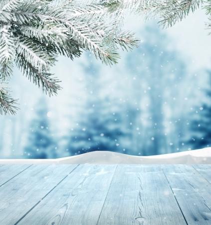táj: téli háttér Stock fotó