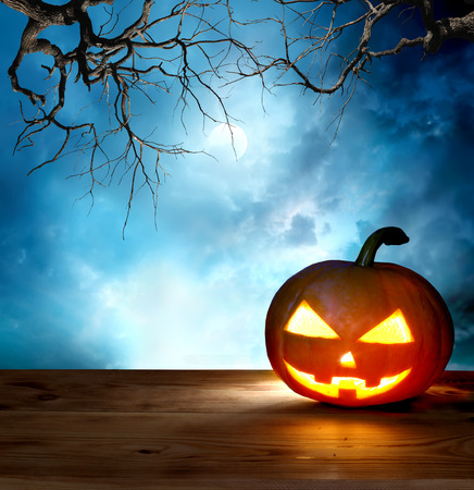 halloween tree: halloween pumpkin background