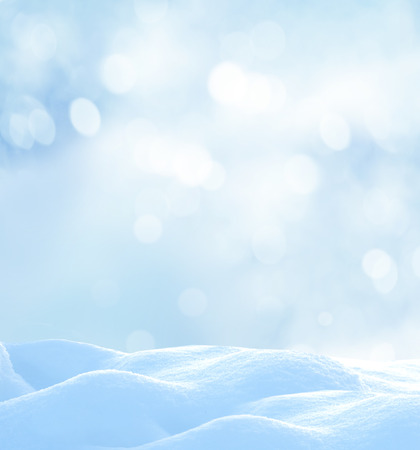 snow  snowy: Christmas winter background with snow and blurred bokeh