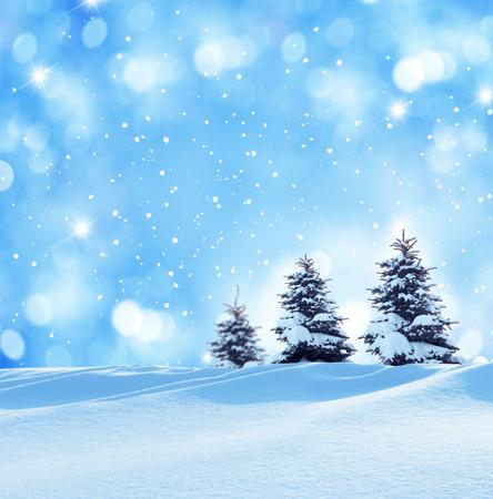 hiver noël paysage Banque d'images