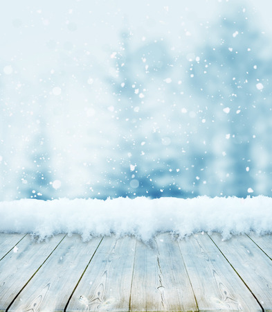 backgrounds: winter christmas background Stock Photo