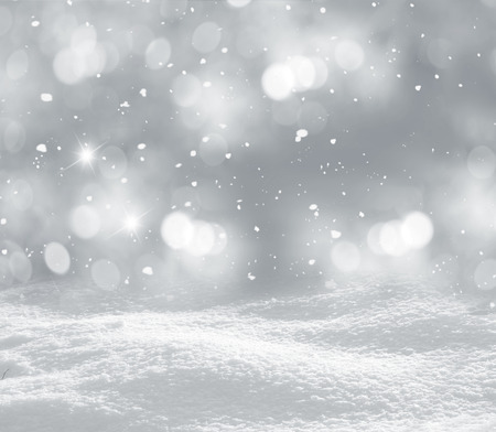 rime: winter christmas background Stock Photo