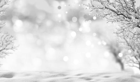 neige noel: de fond en hiver Banque d'images