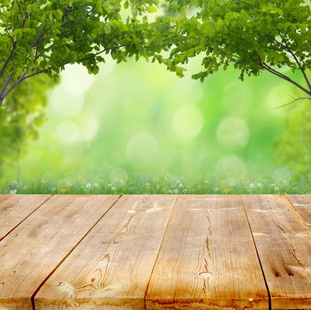 dřevěný: letní pozadí