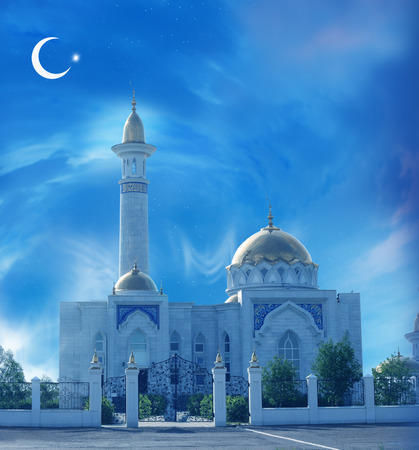 Ramadan Kareem background with mosque