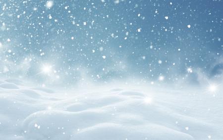 christmas winter: Winter christmas landscape Stock Photo