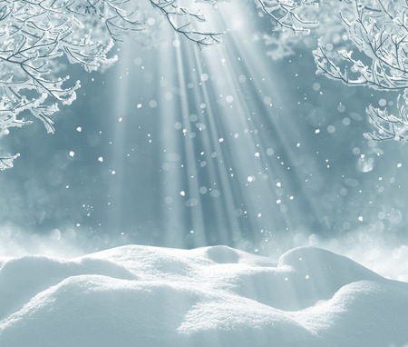 winter christmas background Banco de Imagens