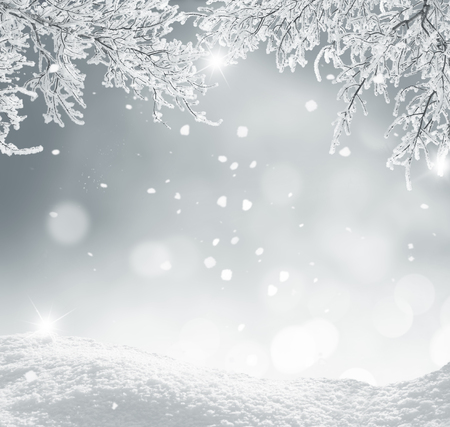 ice: winter christmas background Stock Photo