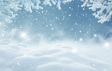 winter weather: Winter christmas landscape Stock Photo
