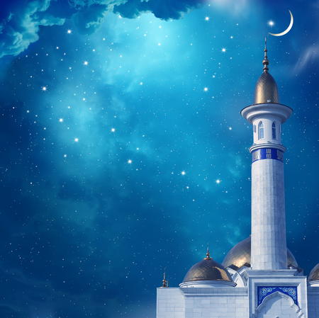 Ramadan Kareem background with mosque Фото со стока - 56977727