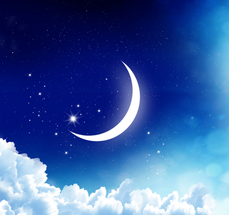 Ramadan Kareem background.Crescent Moon  Stock Photo
