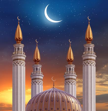 Islamic greeting  Eid Mubarak cards for Muslim Holidays.Eid-Ul-Adha festival celebration . Ramadan Kareem background