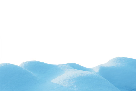 snow isolated on white background 스톡 콘텐츠