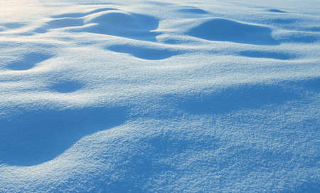 Background of fresh snow. Natural winter background. Banco de Imagens