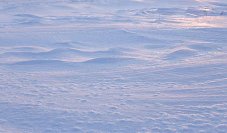 Natural winter background.Winter texture of white snow.A large beautiful snowdrift Banco de Imagens