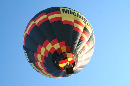 veiw: Grounded Balloon Veiw taken at the Hot Air Jubilee in Jackson, Michigan. Stock Photo
