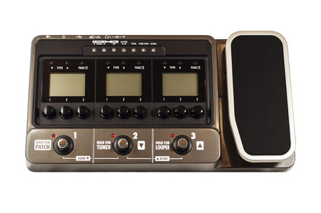 modulator: Guitar effects processor isolated on white