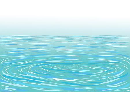 ripple water: Blue ripple water surface. Vector illustration