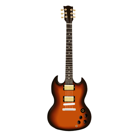 Electric guitar illustration on a white background