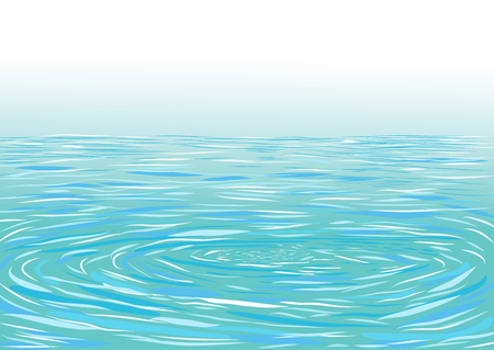 water ripple: Blue ripple water surface illustration