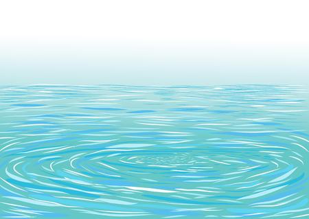 ripple: Blue ripple water surface illustration