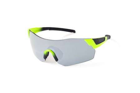 Sport rimless sunglasses with grey lenses isolated on white background