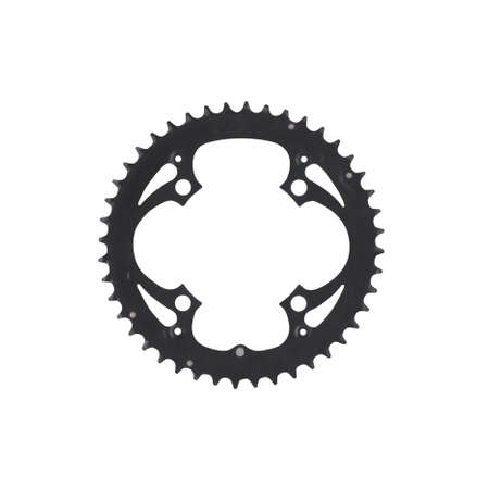 Bike 4 bolt chainring component isolated on white background