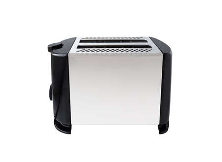 Front view of pop-up toaster for bread toasts isolated on white background