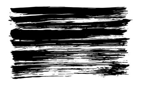 Texture of brush stroke drawn with black ink. Vector background