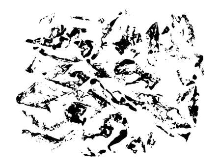 Black rough print of crumple paper on white background. Grunge texture in vector 矢量图像
