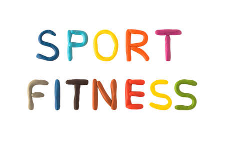 Sport and fitness color text made