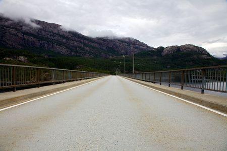 Bridge across Nordalsfjord photo