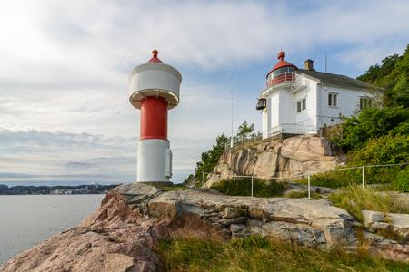Lighthouse at Odderoya in Kristiansand, Norway