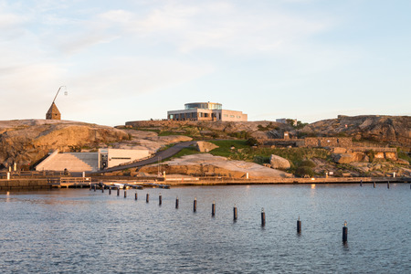 ende: Verdens Ende with Faerder National Park Center and the old lighthouse, Vestfold Norway Stock Photo