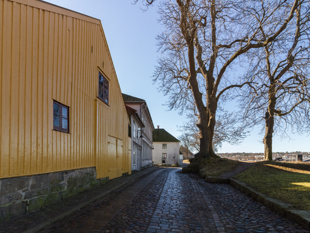 The The Fortified Town, the Old Town in Fredrikstad, Norway Stock Photo