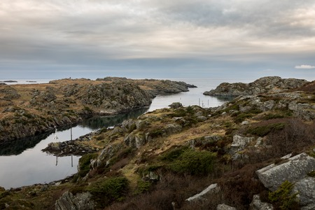 The strait between Rovar and Urd, two islands in The Rovaer archipelago in Haugesund, in the norwegian west coast. Rovaer is a small group of islands, with only around 110 inhabitants.