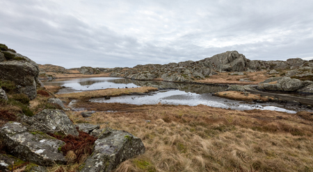 The Rovaer archipelago in Haugesund, in the norwegian west coast. Rovaer is a small group of islands, with only around 110 inhabitants. . Stock Photo