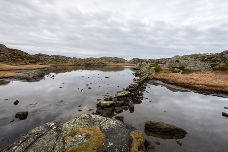 The Rovaer archipelago in Haugesund, in the norwegian west coast. Remains of prehistoric settlement is found here in Gronavikjo. Rovaer is a small group of islands, with only around 110 inhabitants. .