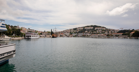 Dubrovnik, Croatia - April, 2019: Gruz Port of Dubrovnik Editöryel