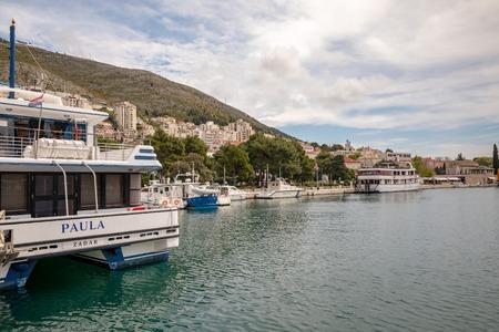 Dubrovnik, Croatia - April, 2019: Boats in the harbour, Gruz Port of Dubrovnik Editöryel