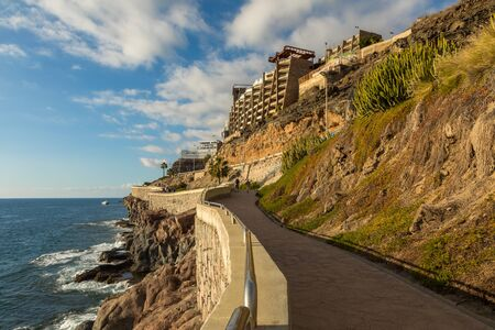 Gran Canaria, the footpath road along the ocean from Puerto Rico to Playa de Amadores.