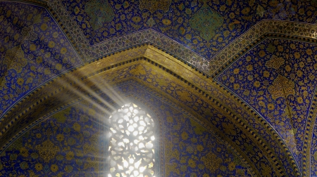 mosque light rays