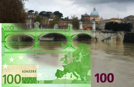 Comparison of the architectural style of bank notes Stock Photo - 17078978