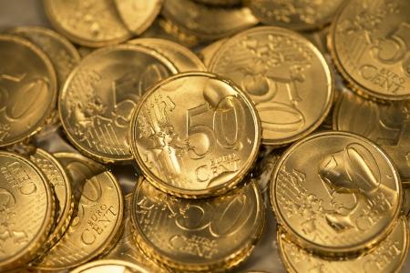 Many wet 50 cent Stock Photo - 17724078