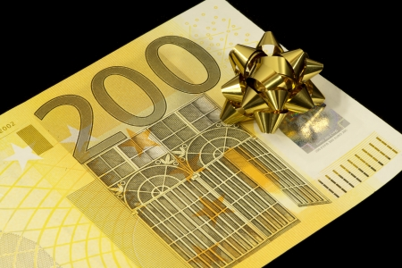 The banknote of 200 euro is a gift Stock Photo - 17724113