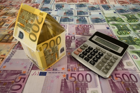 Calculation of housing costs in Euro Stock Photo - 17724168