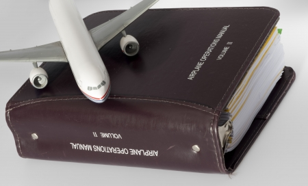 Detail of an Airplane operations manual standard for all airliners